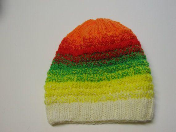 Woolen hat for men, colorful stripes