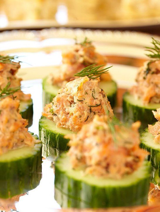 ... cucumber rounds salmon tartare alex o loughlin smoked salmon fish