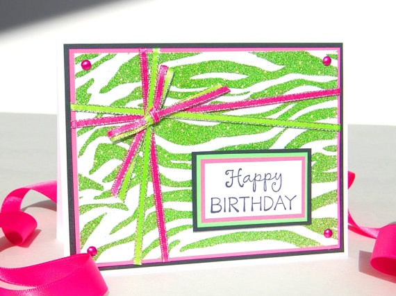 17 Best images about CARDS ANIMAL PRINT – Zebra Print Birthday Cards