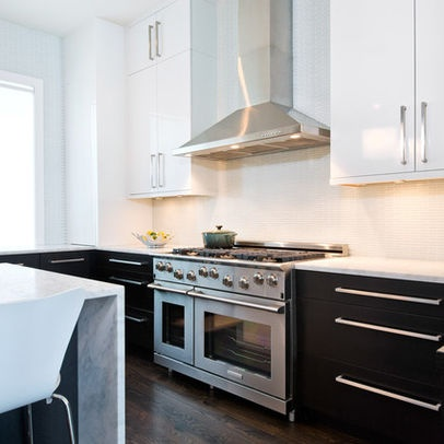 Modern Home Two Tone Kitchen Design Ideas, Pictures, Remodel, and Decor