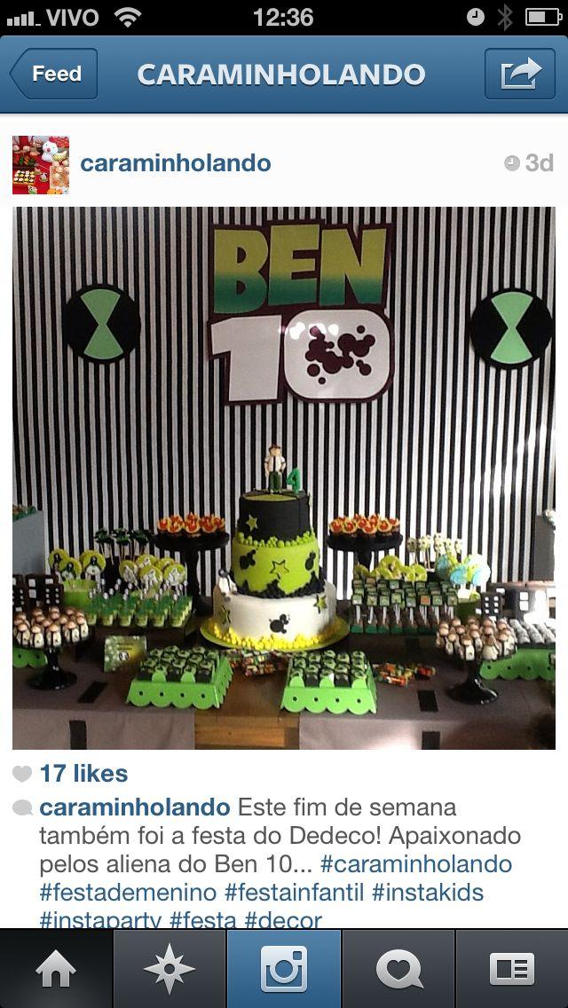 Inspiracao festa Ben 10