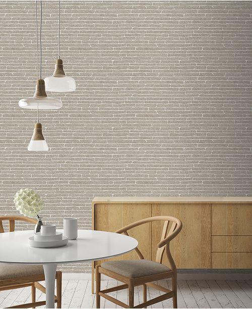 Graham Brown Briquette Gray Wallpaper In 2019 Kitchen Updates
