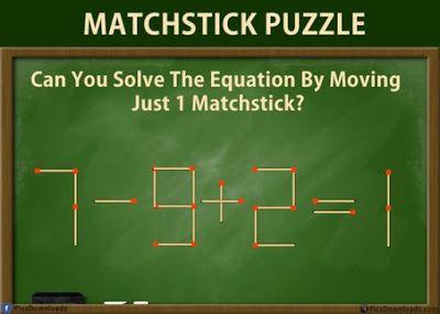 احذف عود واحد لتصبح المعادلة صحيحة