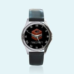 New Round Metal Watch Minecraft TNT Logo Boom Birthday... review | buy, shop with friends, sale | Kaboodle