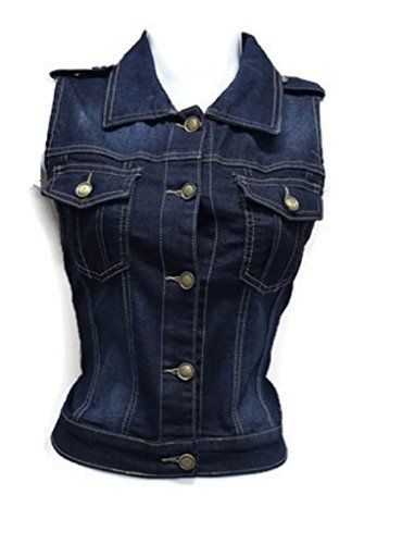 Special Offer: $19.99 amazon.com Sleeveless Stretch Denim Cardigan Vest Tops With Epaulet Shoulder sizes S/M/L/XLJUNIOR SIZEButton Up Denim Vest84% Cotton 13% Polyester 3% ElasthaneLength S-18″ M-19″ L-19.5″ XL-19.5″ (From Shoulder to Hem)Pit To Pit S-17″...