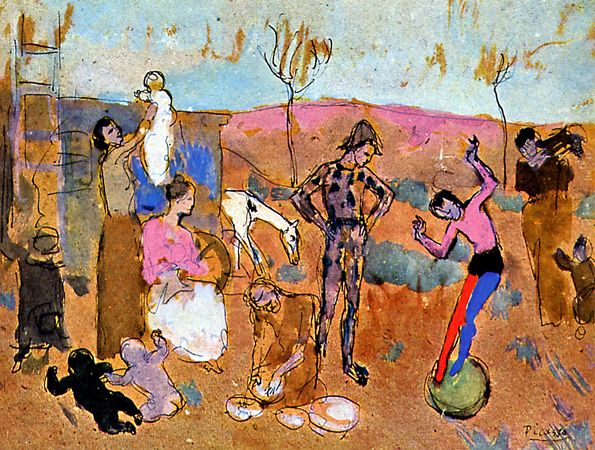 Pablo Picasso, Family of Jugglers, 1905