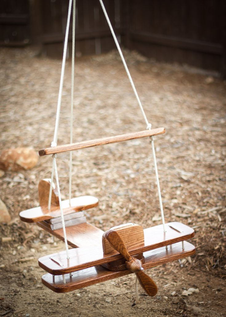 """Kid's Outdoor Airplane Swing -this is amazing. My kid LOVES """"panes""""!"""