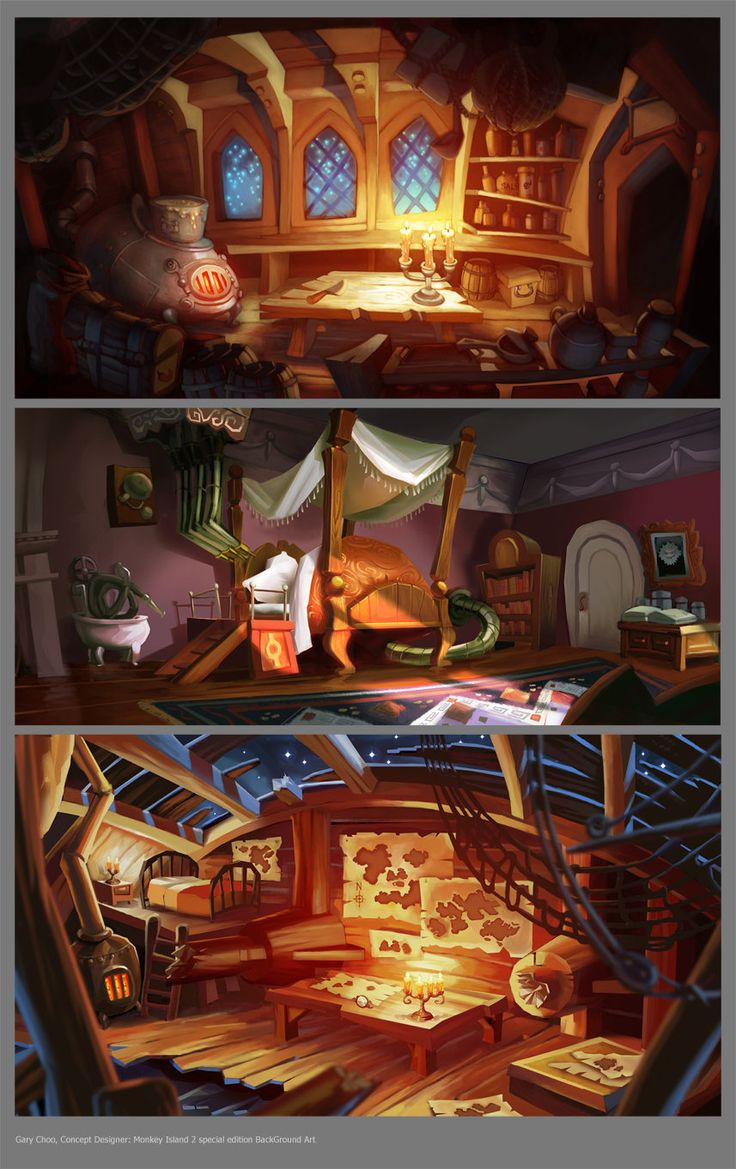 Monkey Island 2 Special Edition BG paints, Gary Choo on ArtStation at http://www.artstation.com/artwork/monkey-island-2-special-edition-bg-paints