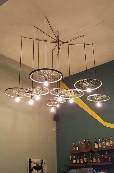 Green Ideas To Recycle Bike Parts For Unique Lighting