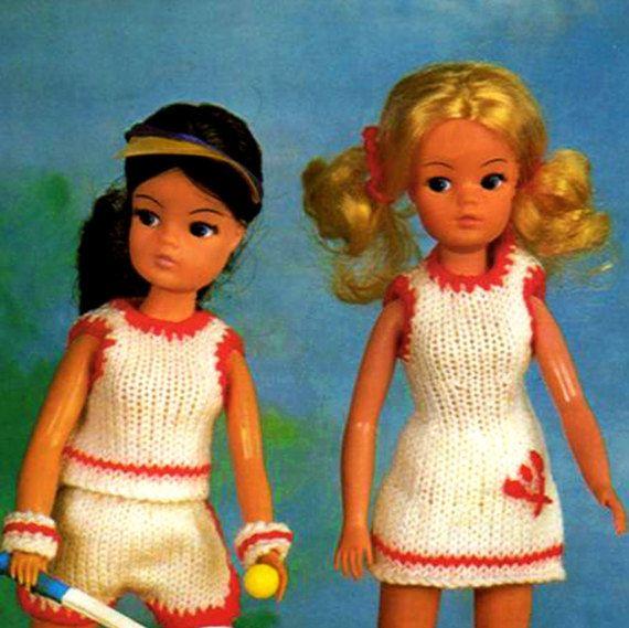 PDF Vintage Sindy Barbie Doll Clothes Knitting Pattern Tennis