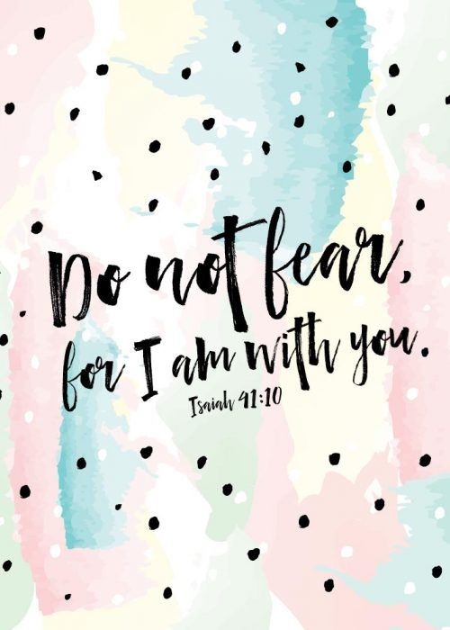 Do not fear, for I am with you Isaiah 41:10 Fear. One of the enemy's most popular weapons that he uses against us. Worry, anxiety, fear… can overwhelm us with a thick shadow of darkness, controlling our every move and decision. God doesn't promise to always take away all our fears. Yet He gives us the power, love and self-discipline necessary to embrace His life-changing truth.