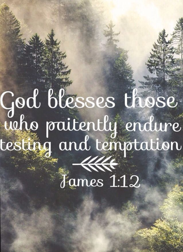 "James 1:12~ ""Blessed is the one who perseveres under trial because, having stood the test, that person will receive the crown of life that the Lord has promised to those who love him."""