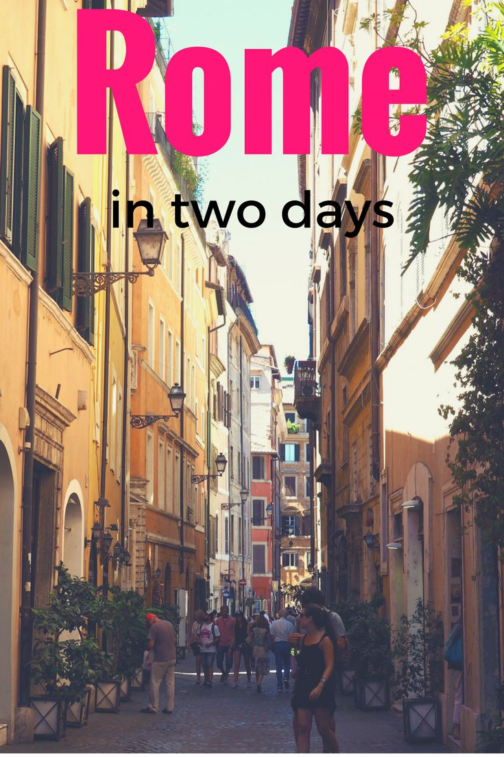 Travel Italy, Rome: One of the simple pleasures of Rome is wandering its charming streets... but if you only have a weekend to see the Italian capital, you should use this two day itinerary to make sure you see all of the main attractions - including Vatican City. Read the full guide to Rome on While I'm Young and Skinny travel blog.