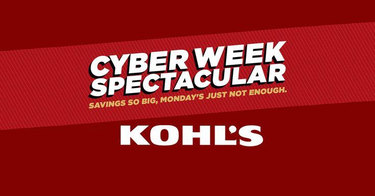 Kohl's Cyber Days Deals Revealed!