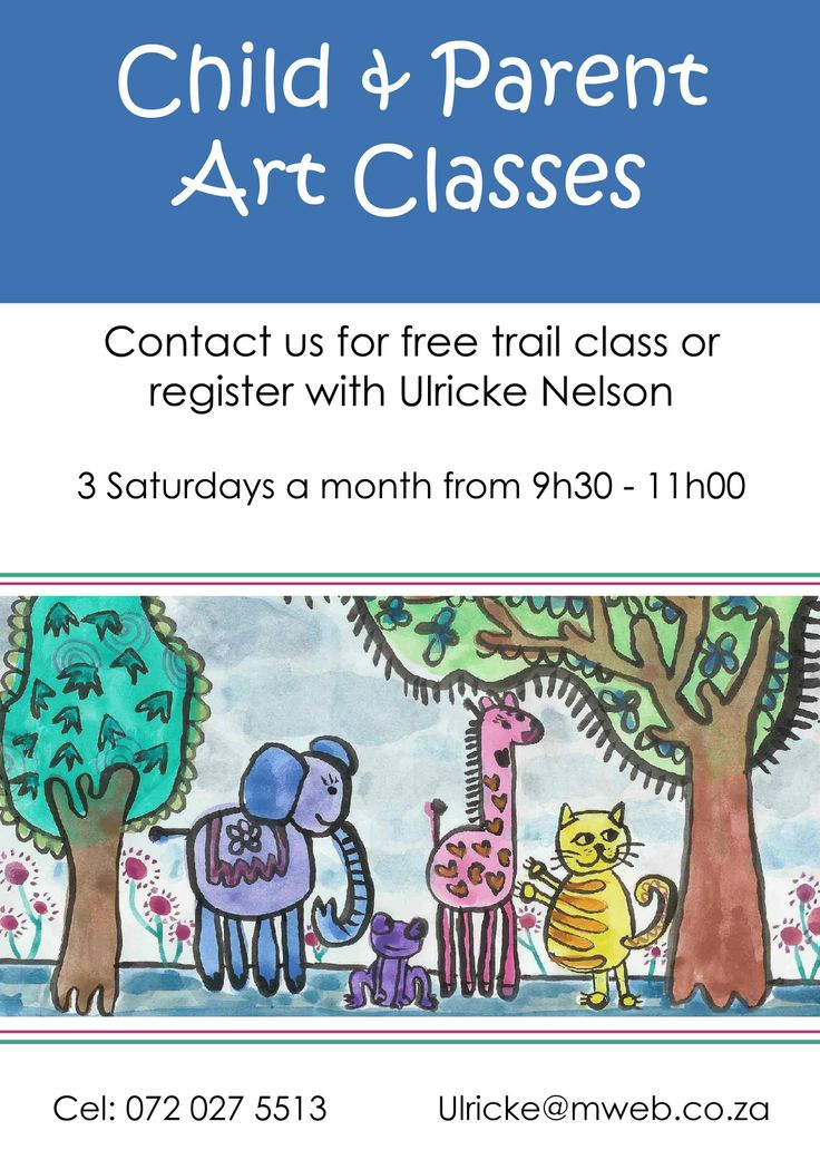 Junior art classes for moms and children from age 3.