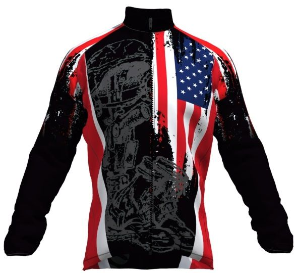 JACKET - Fallen Warrior Lined Eurotherm Cycling Jacket - Even more Christmas Cycling Ideas at cyclegarb.com