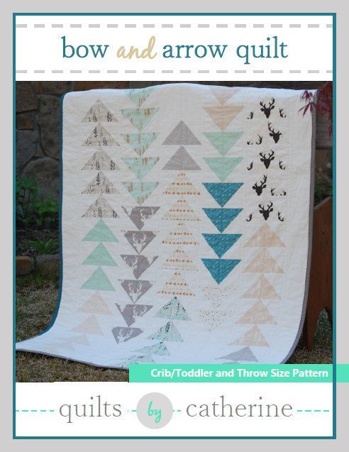 Bow and Arrow Quilt PDF Pattern in Baby Crib by QuiltsbyCatherine