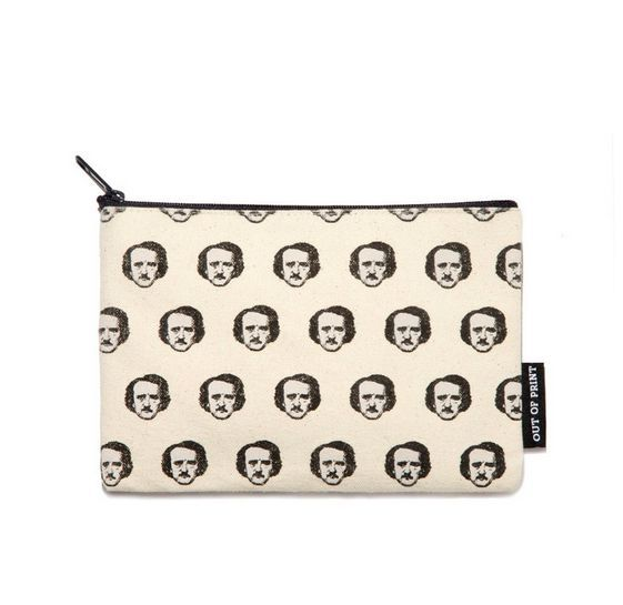 This Edgar Allan Poe pouch is a quirky gift idea for friends who love to read.