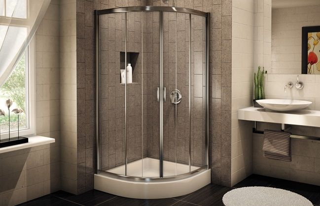 1000 ideas about small shower stalls on pinterest small - Lowe s home improvement bathroom tile ...