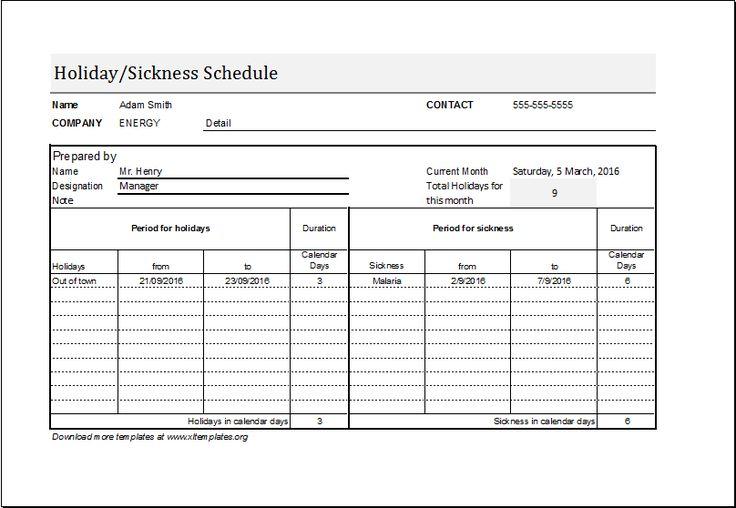 microsoft employee schedule template