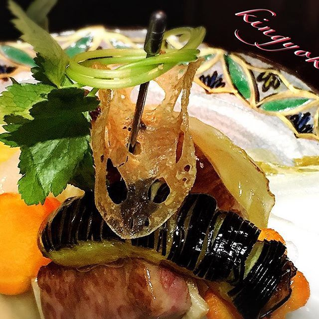 #肉#ナス#目の細かさ#包丁命#やっぱり#和食だね#白菜#玉ねぎカップ#梅人参#もう少しで #桜の季節#桜も好き#濃くある#餡掛け#やっぱり#料理は#天で #決まる #本日の#おすすめでした#結び三つ葉が#ポイント#かわいい#串#ピン#銀