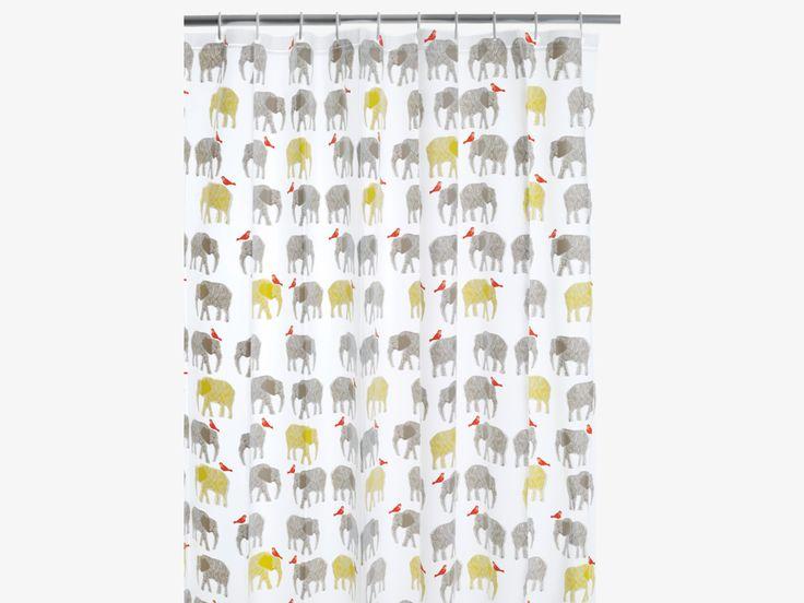 TOPSY MULTI-COLOURED Plastic Multi-coloured patterned shower curtain - HabitatUK