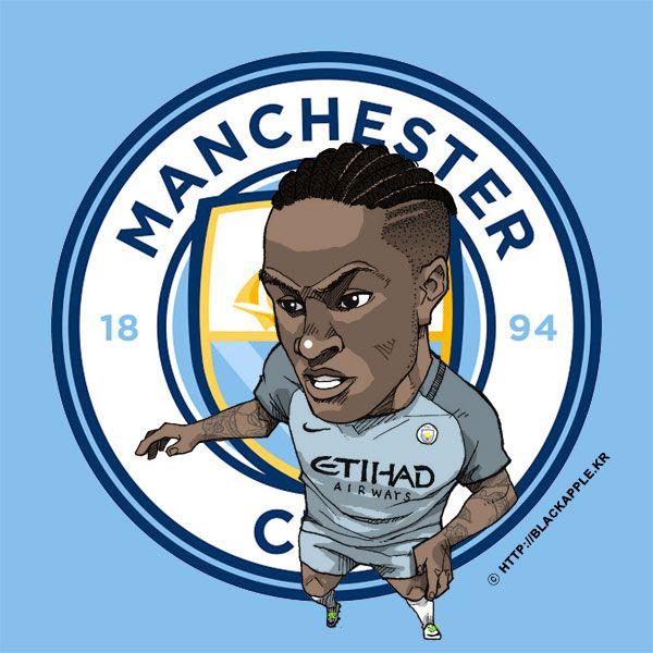 Manchester City No.7 Raheem Sterling Fan Art