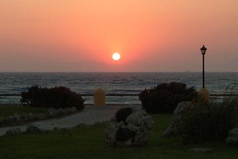 Solnedgång i Rhodos Stad