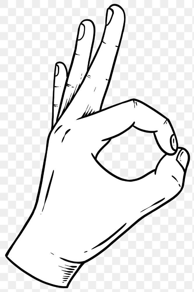 Ok Hand Sign Drawing Design Element Free Image By Rawpixel Com Noon Ok Hand Sign Design Element Designs To Draw