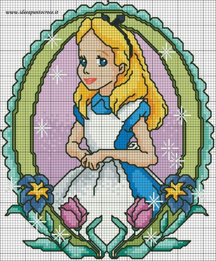 1060 best disney princesses graphs images on pinterest for Immagini disney punto croce