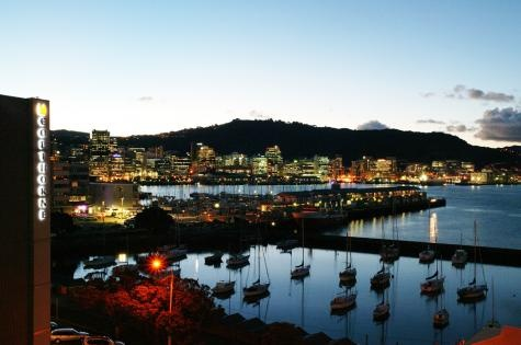 evening, Wellington New Zealand