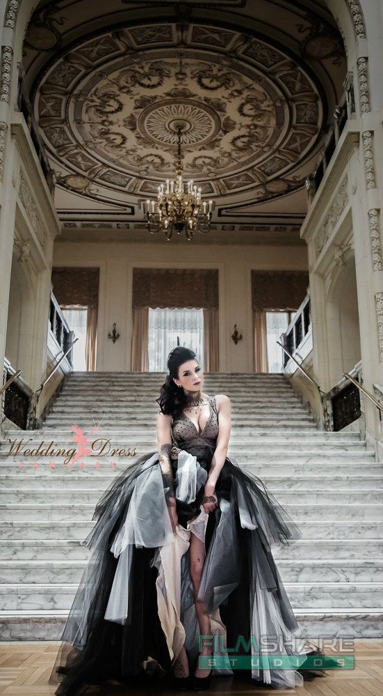 Couture Vintage Gothic Wedding Dress by WeddingDressFantasy Gothic Wedding Dress Rocker Wedding Dress Pinup Wedding Dress