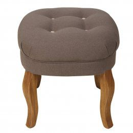 Contrast Button Cotton Stool