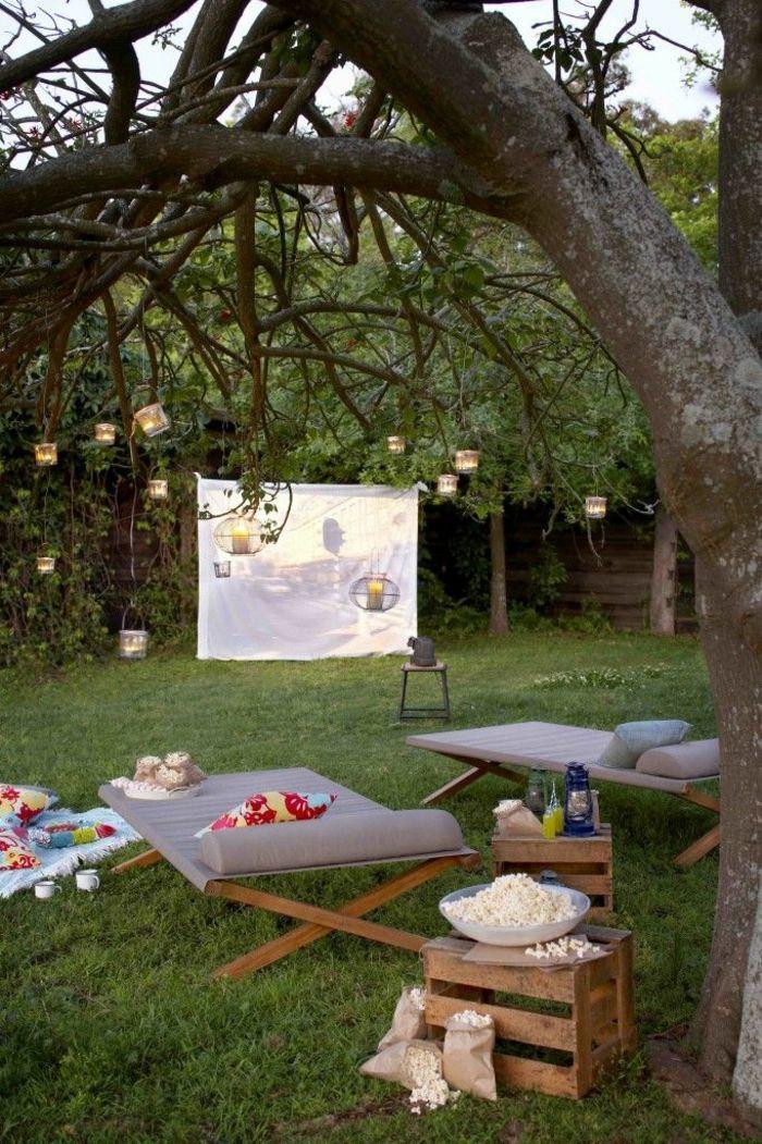 Die 25+ Besten Ideen Zu Outdoor Kinos Auf Pinterest | Theater Im ... Open Air Kino Garten Selber Machen