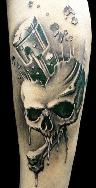 Tattoo Artist - Demon Tattoo - Skull tattoo
