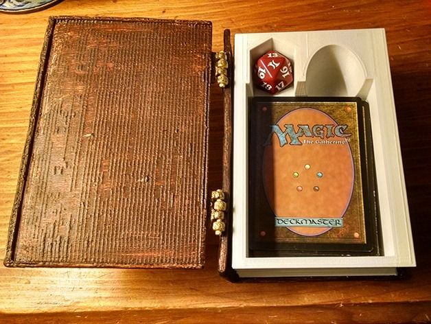 Spell Book MTG Deck Box by ClassyGoat - Thingiverse