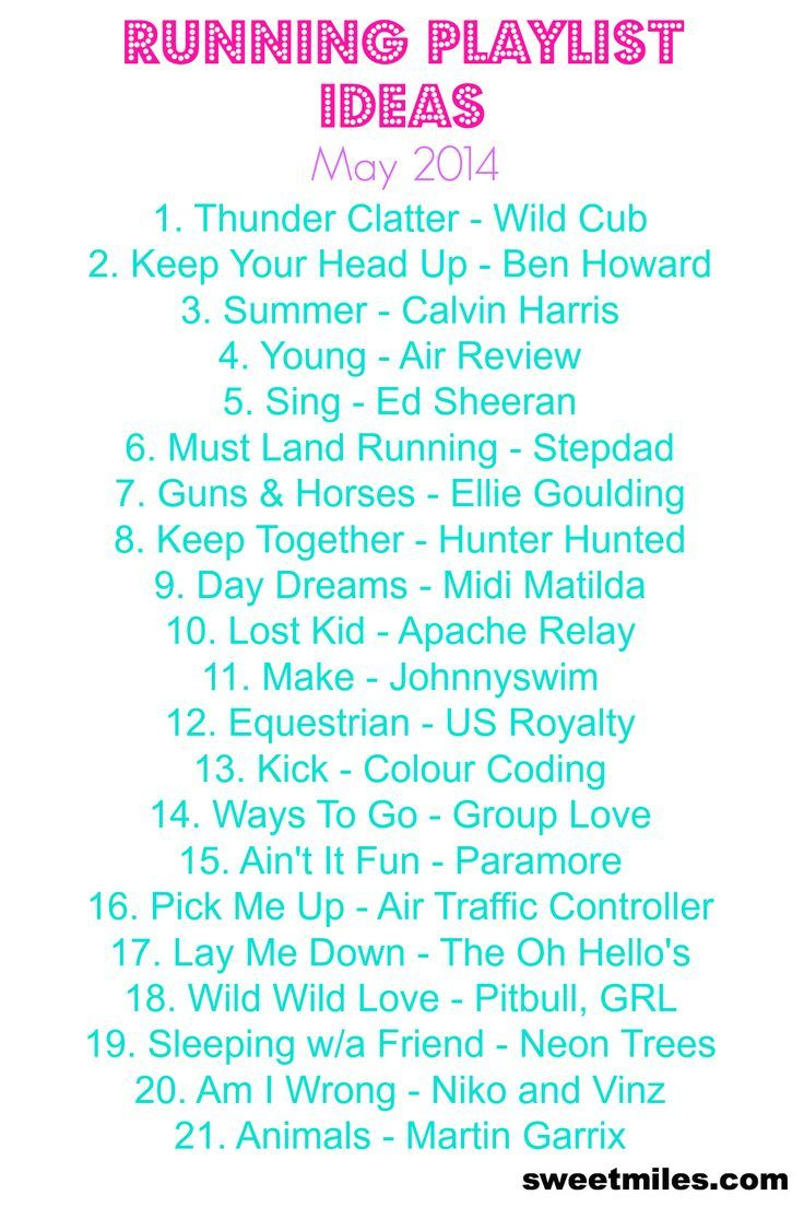 93 besten Running Playlists Bilder auf Pinterest