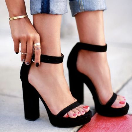Block heels are definitely a comfortable (and stylish) option!