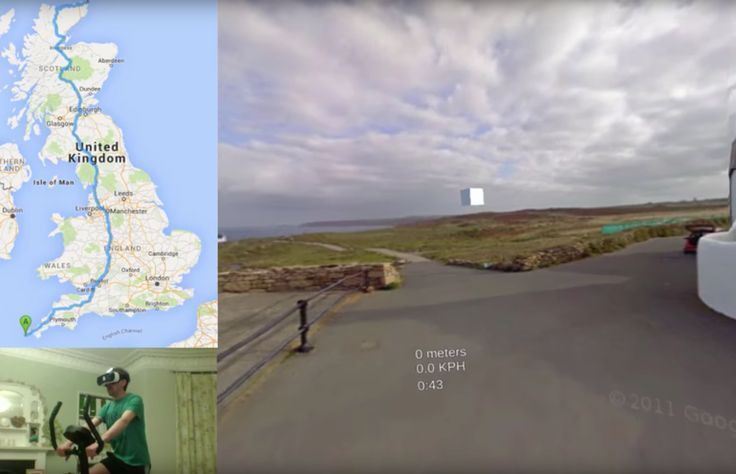 Man attempts to cycle length of Britain in Street View VR     - CNET  Enlarge…