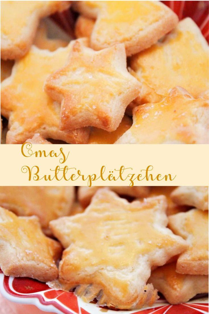 Heute ein klassisches Rezept für Euch, Butterplätzchen die mit wenigen Zutaten so lecker sind. Das Rezept hab ich schon super lange und von einer ganz besonderen Person bekommen :-) #Butterplätzchen #Rezeptbutterplätzchen #Weihnachtsgebäck