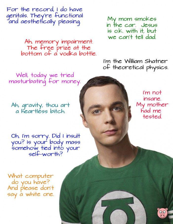 Sheldon Cooper Quotes, #Funny #TheBigBangTheory #TV #Film #Quotes #SheldonCooper