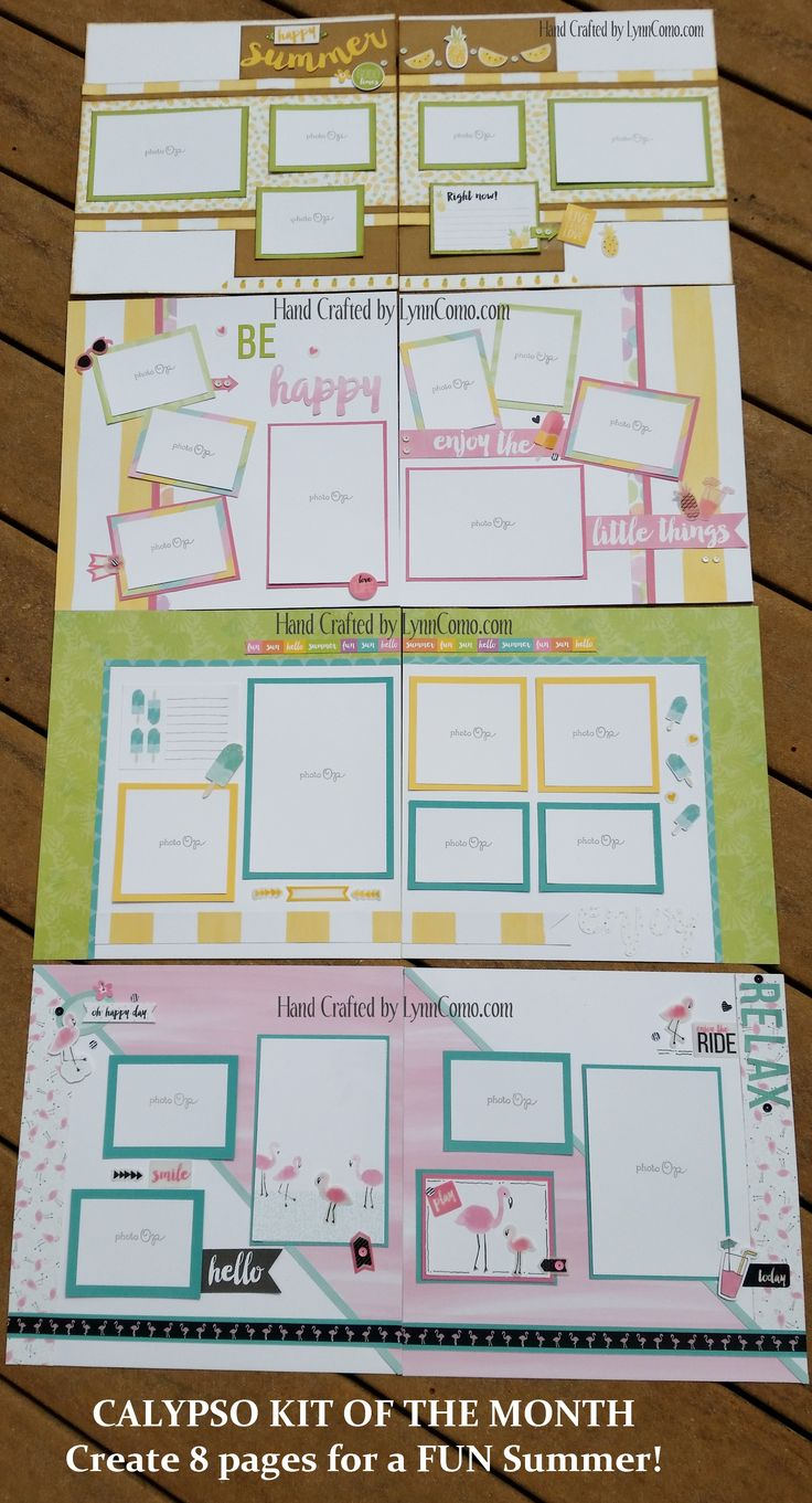 Scrapbook ideas niagara falls - Calypso Kit Of The Month Creates 8 Pages To Delight You For Summertime And More