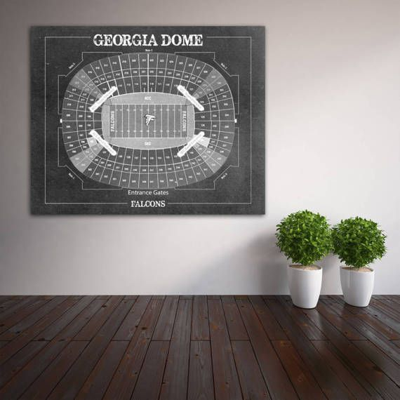 Print of Vintage Georgia Dome Seating Chart Seating by ClavinInc
