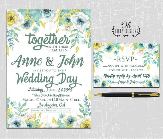 27 best Wedding Invitations images on Pinterest