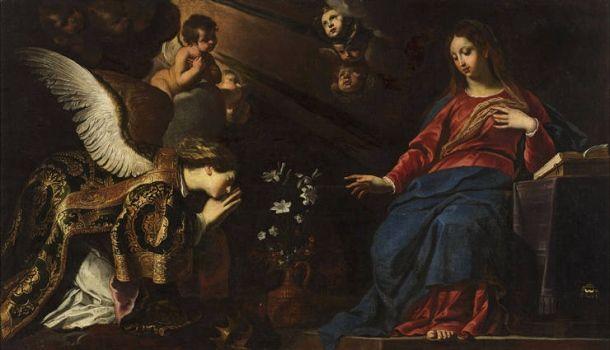Gerard Seghers' Mariä Verkündigung, Öl auf Leinwand, 119,5 mal 206,5 Zentimeter groß, ist geschätzt auf 90.000 bis 110.000 Euro.