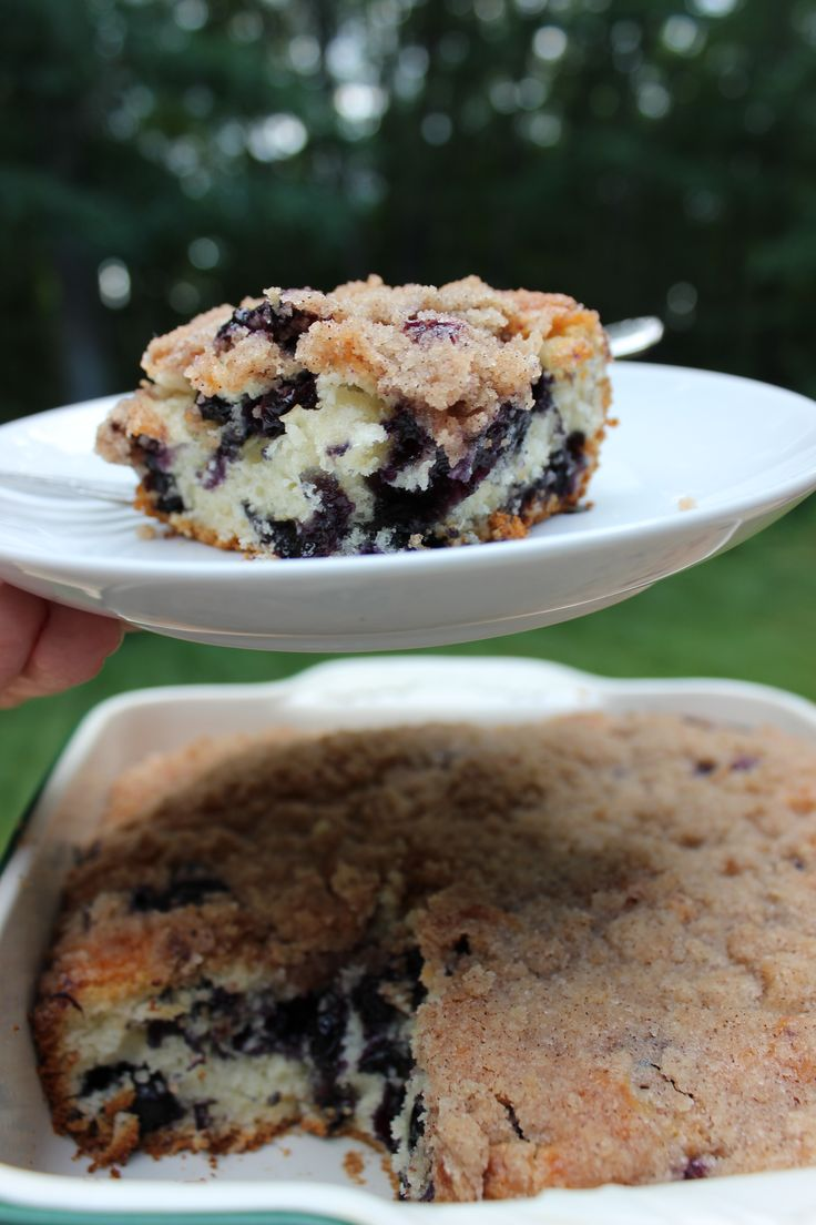 BLUEBERRY AND CINNAMON STRUESEL BRUNCH CAKE.  This from-scratch recipe is so easy,  there