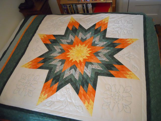 Sandra Sarner created this queen sized Lond Star quilt.