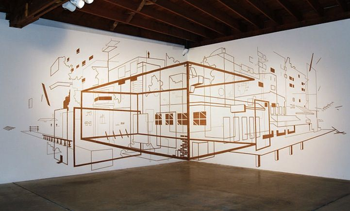 Multidisciplinary artist Damien Gilley creates sculptural installations that quickly redefine space through the use of optical illusions.