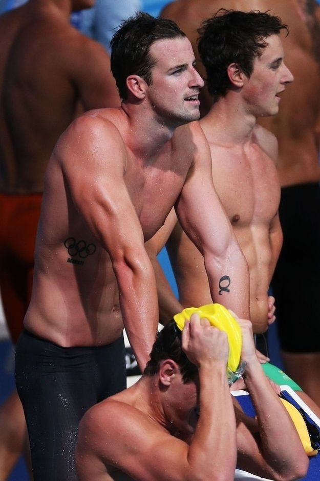 When this Australian guy stood there with his arms looking backward but it didn't even matter because he's so hot. | 36 Very Important Shirtless Things That Happened At The Swimming World Championships