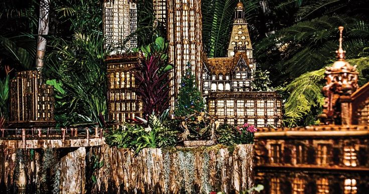 A Skyline Fashioned from Foliage  ||  At the New York Botanical Garden's Holiday Train Show, miniature buildings are made from twigs, tendrils, and seedpods. https://www.newyorker.com/magazine/2018/01/01/a-skyline-fashioned-from-foliage?utm_campaign=crowdfire&utm_content=crowdfire&utm_medium=social&utm_source=pinterest